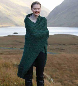 Irish Wool Throw Blanket