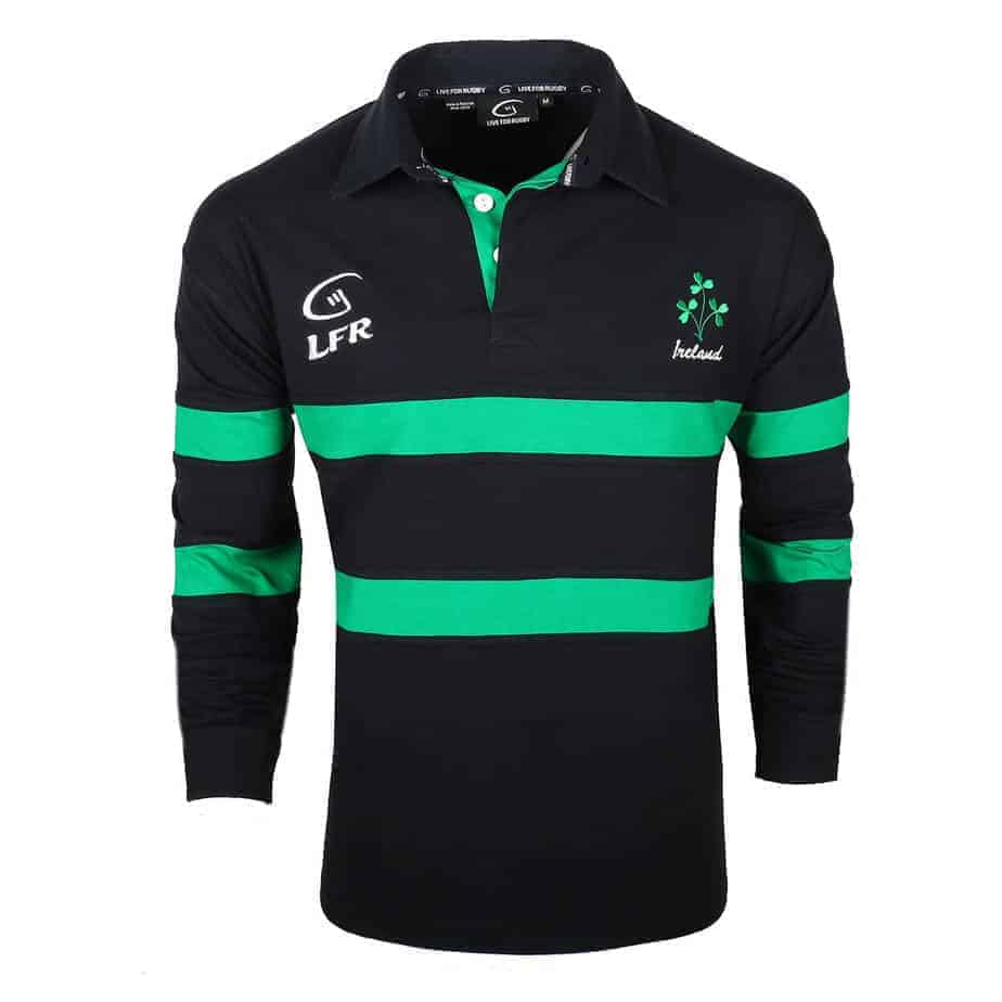a7da09f66 Blue Irish Rugby Shirt - Shamrock Crest | Celtic Clothing Company