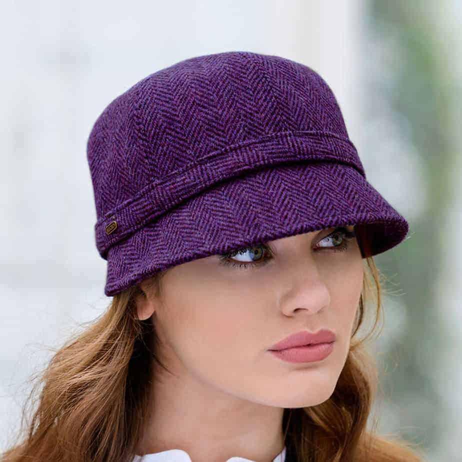 f9bb8f42a0d62c Women's Irish Flapper Hat | Purple | Imported from Ireland.