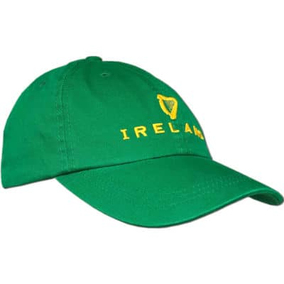 Irish Harp Baseball Cap Green