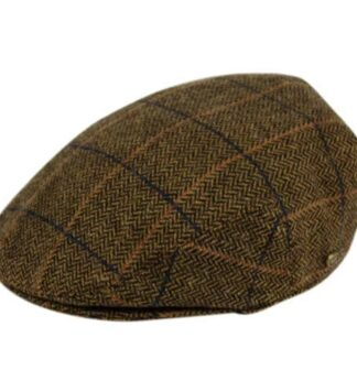 Traditional Irish Style Flat Cap. Olive Green