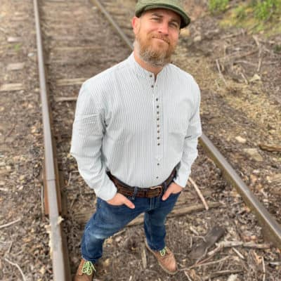 Henley Style Collarless Grandfather Shirt
