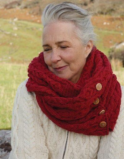Irish Wool Snood - Red