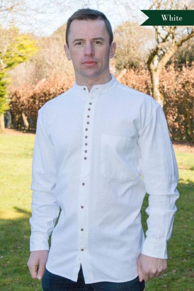 Irish Grandfather Shirt - White