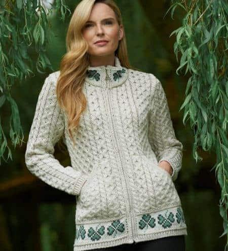 Shamrock Women's Wool Cardigan