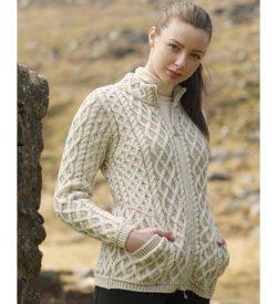 Irish Wool Cardigan for Women