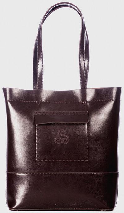 Ladies Leather handbag. Made in Ireland.