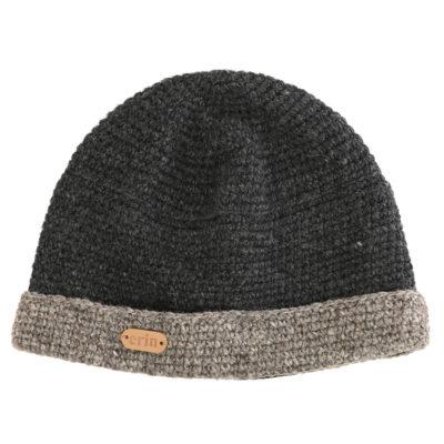 Crochet Beanie Cap Gray. Made in Ireland.