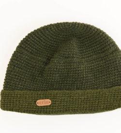Green Crochet Beanie Cap