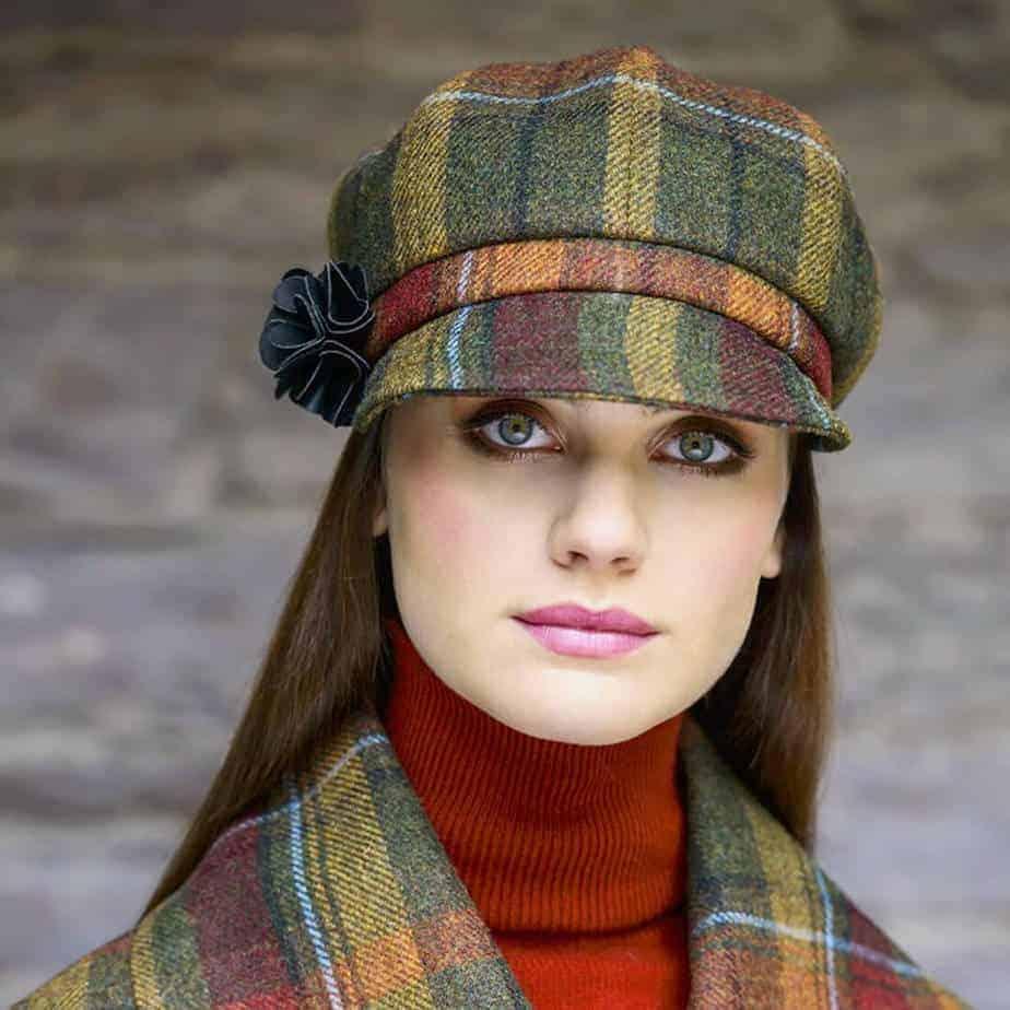 Ladies Newsboy Hat - Sunset Harvest | Imported from Ireland