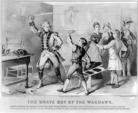 Andrew Jackson defies British Officer