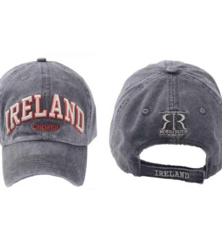 Ireland Baseball Cap, Black, Embroidered