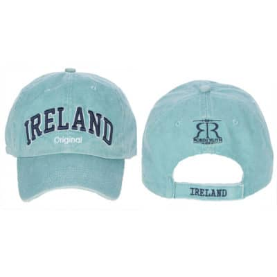 Ireland Baseball Cap, Aqua, Embroidered