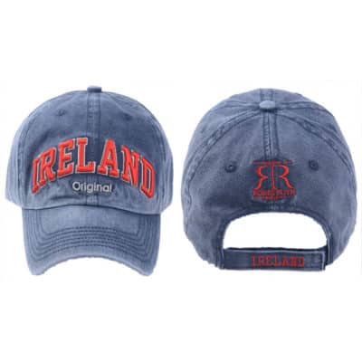 Ireland Baseball Cap, Blue, Embroidered