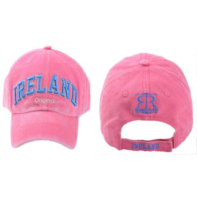 Ireland Baseball Cap, Pink, Embroidered