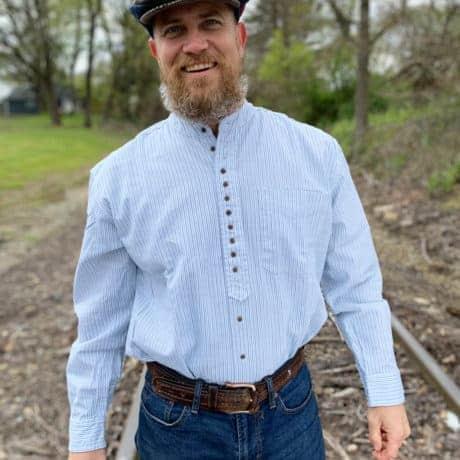 Mandarin Collar Grandfather Shirt
