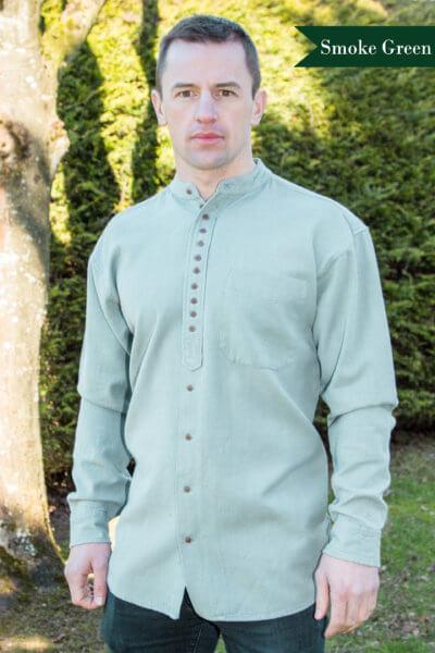 Collarless dress shirt from Ireland