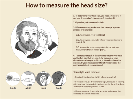 How to Measure your head / hat size