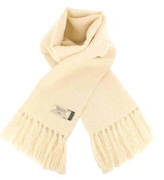 Classic Irish Alpaca Wool Scarf - Natural