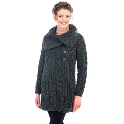 Classic Irish Aran Cable Sweater