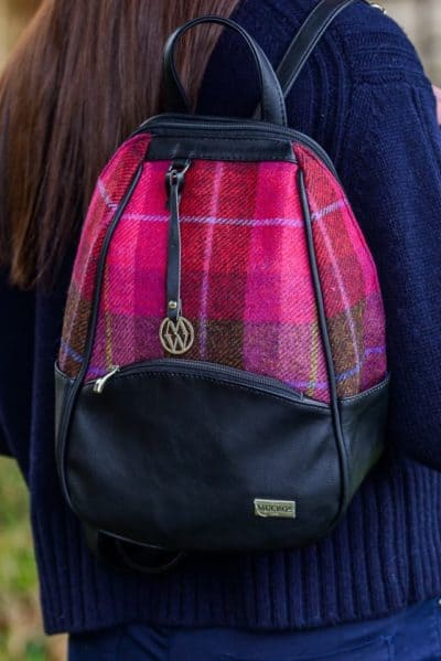 Irish Colleen Backpack - Pink Check Pattern