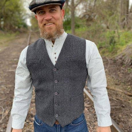 Gray Vest for Men