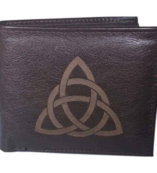 Celtic Trinity Knot Leather Wallet for Men