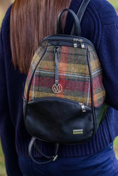 Plaid backpack for girls