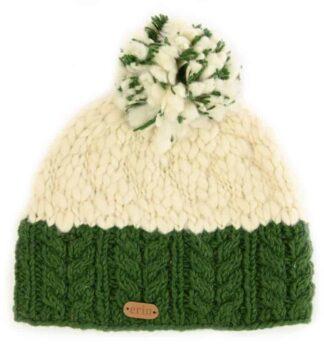 Irish Wool Bobble Cap