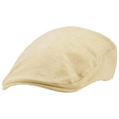 Irish Linen Flat Cap Lightweight