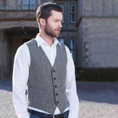 Tweed Vest for Men