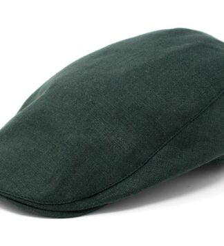 Classic Irish Linen Flat Cap - Green