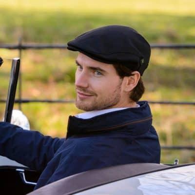Men's Golf Cap-Irish Linen-Black