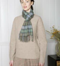 Irish Merino Wool Scarf - Tartan Design