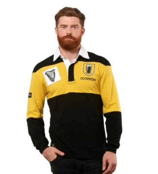Guinness Rugby Jersey-Mustard & Black