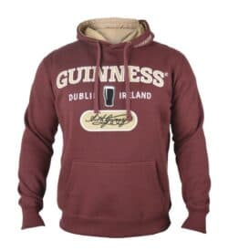 Guinness Hooded Sweatshirt-Burgundy