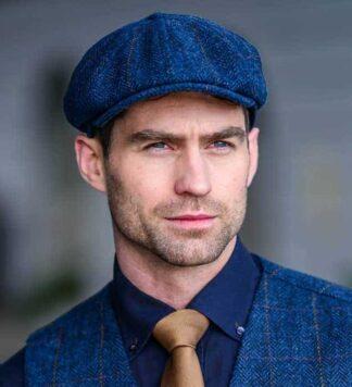 Irish Tweed Vintage Golf Cap -Blue