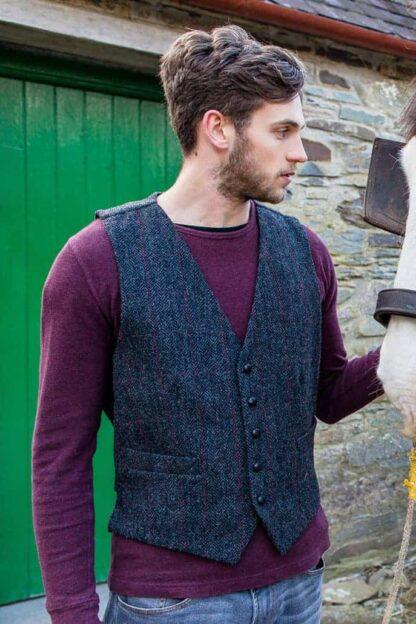 Irish Tweed Vest - Dark Gray