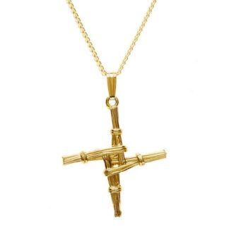 Gold St Bridget's Cross