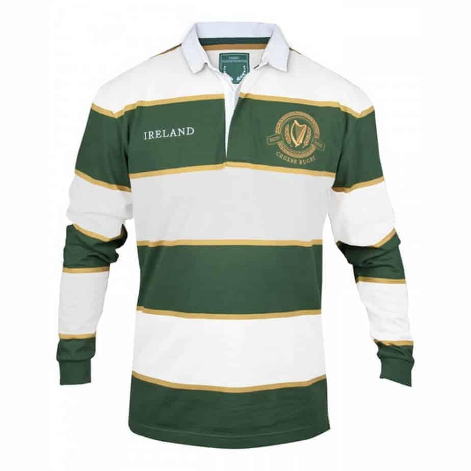 irish rugby jersey green white