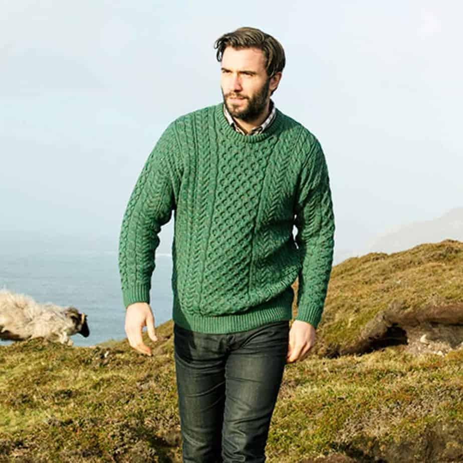 Sweater , Moss Green , Men