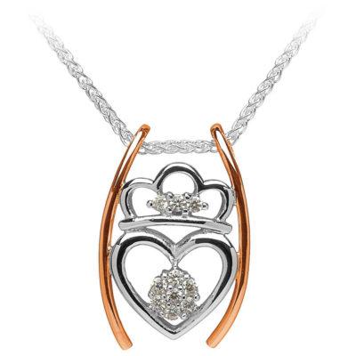 Claddagh Heart Pendant with Diamond