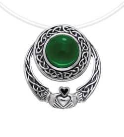 Celtic Claddagh Stone Pendant